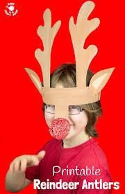 reindeer antlers headband printable reindeer antlers to colour and wear kids craft room