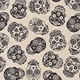 skull wrapping paper sugar skull kraft present gift wrap wrapping paper