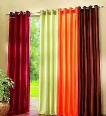 Orange Curtains For Living Room Colorful Curtain For Living Room Available In Maroon Green And