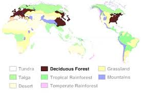 Biomes Map Temperate Deciduous Forest Biome Map Image Gallery Hcpr