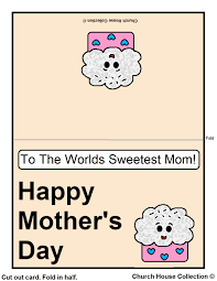 printable mother u0027s day card for kids to color