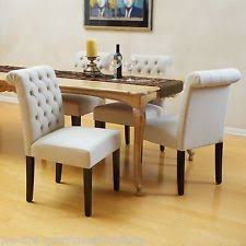 Upholstered Linen Dining Chairs Linen Dining Chairs Ebay