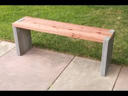 Concrete Table And Benches Diy Modern Concrete And Redwood Bench Tutorial Youtube