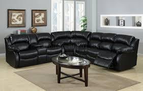 furniture surprising cranley elegant black leather recliner sofa