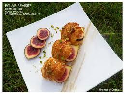 cuisiner figues fraiches recette eclair crème légère au miel figues fraîches et caramel