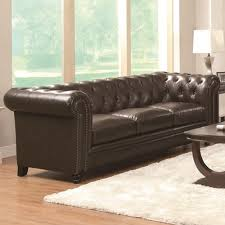 Black Tufted Sofa by Traditional Button Tufted Sofa With Rolled Back And Arms
