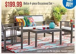 Cost Plus Outdoor Furniture Cost Plus World Market Open Now 199 99 4 Piece Outdoor Set