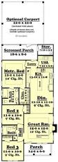 Brick Colonial House Plans by Best 25 Narrow Lot House Plans Ideas On Pinterest Narrow House