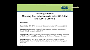 Mapping Tools Training Session Mapping Tool Between Two Code Sets Icd 9 Cm And