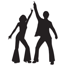party silhouette funky 70 u0027s disco dancing couple silhouettes party wall decorations