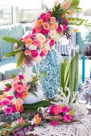 wedding decor tropical bouquet ideas u0026 beachy color palette