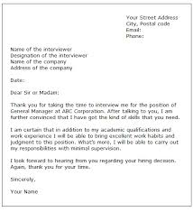 6 interview thank you letter sample expense report