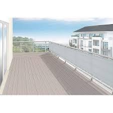 obi sichtschutz balkon floracord balkonverkleidung hell silbergrau 75 cm x 500 cm kaufen