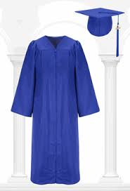 cap and gown blue graduation cap and gown