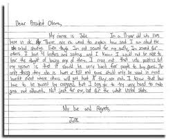 white house releases a couple of letters from kids on gun control
