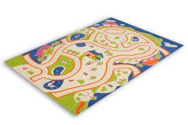 tapis chambre enfant pas cher tapis pour enfant motif play moderne route bleu vert crème pas cher