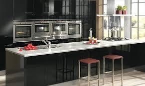 cuisine noir laqué cuisine ixina noir laqué photo 18 25 impressionnant équipement