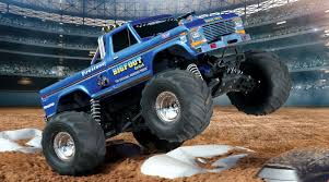 monster trucks bigfoot 5 1 10 bigfoot classic 2wd monster truck brushed rtr blue