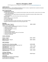 Pharmacy Technician Resume Objective Sample by It Technician Resume Objective Ecordura Com