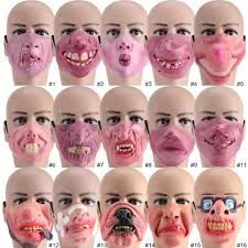 1x latex mask halloween scary festival mask costume cosplay party