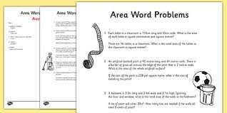 area word problems activity sheet maths year 5 year 6 area