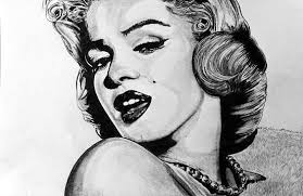 marilyn monroe drawing by ralph harlow