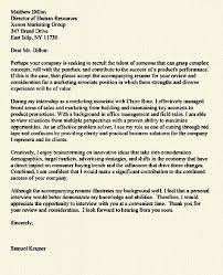 sample marketing cover letter example sales manager cover letter