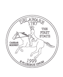 coloring pages quarter usa printables delaware state quarter us states coloring pages