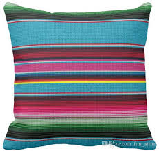 Sofa Cushions Replacement by The Mexican Blanket Throw Pillow Case Squar Sofa Cushions Cover