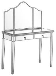 Mirrored Vanity Table Elegant Lighting Mf6 2001 Chamberlan 2 Piece Wood Dressing Table