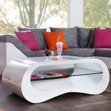 Wohnzimmertisch Nierenform Tischteile U0026 Zubehör Aus Glas Mit Ablagen Tische Ebay