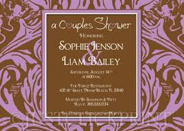 couples wedding shower invitation wording birds couples bridal or wedding shower invitation uprint