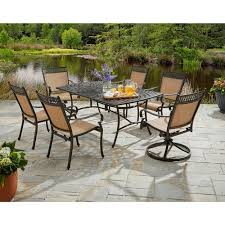 Patio Furniture From Walmart by Better Homes And Gardens Warrens 7 Piece Alumicast Dining Set