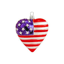 shaped american flag glass ornament 1115667 buffalo trader