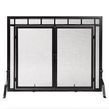 fireplace screen with glass doors free standing fireplace door screens woodlanddirect com