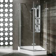 Showerlux Shower Doors Vigo 42 X 42 Neo Angle Shower Enclosure Single Water Deflector