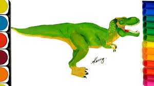 draw dinosaurs coloring pages teach drawing coloring