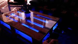Wohnzimmer Tisch Lampe Diy Europaletten Tisch Mit Led Beleuchtung Youtube