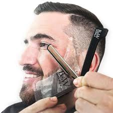 selling clear template guide for edging beards and goatees