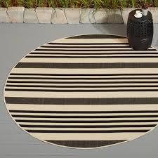 3x5 Outdoor Rug Safavieh Courtyard Stripe Black Bone Indoor Outdoor Rug Free