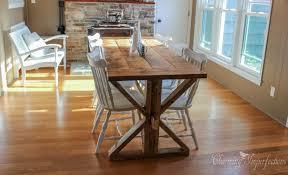 build your own farmhouse table 7 diy farmhouse tables with free plans