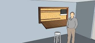 Fold Up Drafting Table Hideaway Drafting Table 7 Steps With Pictures