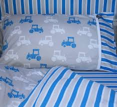 Duvet Baby Cotbed Bedding Set In Tractor Design 60 Hippins For Baby Gifts