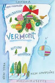 Map Of Watercolor Florida by Christmas In Vermont Wassailing Weekend In Woodstock Vermont