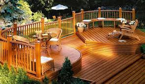 outside wood deck ideas landscaping and outdoor building with 2017