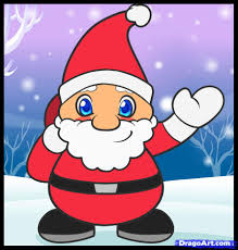 santa claus drawing pictures for kids