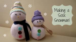 making a sock snowman cute winter craft maymommy2011 youtube