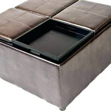 Leather Storage Ottoman Coffee Table Square Tufted Storage Ottoman Etechconsulting Co