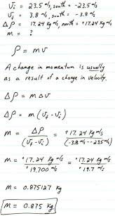 chapter 9 momentum problems solutions