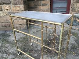 metal bar cart with wine rack attainable vintage